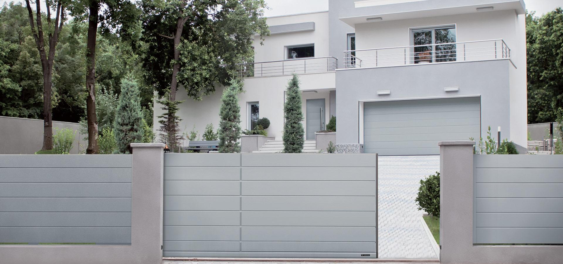 Moderner Zaun Zaunsysteme Aus Aluminium Und Stahl